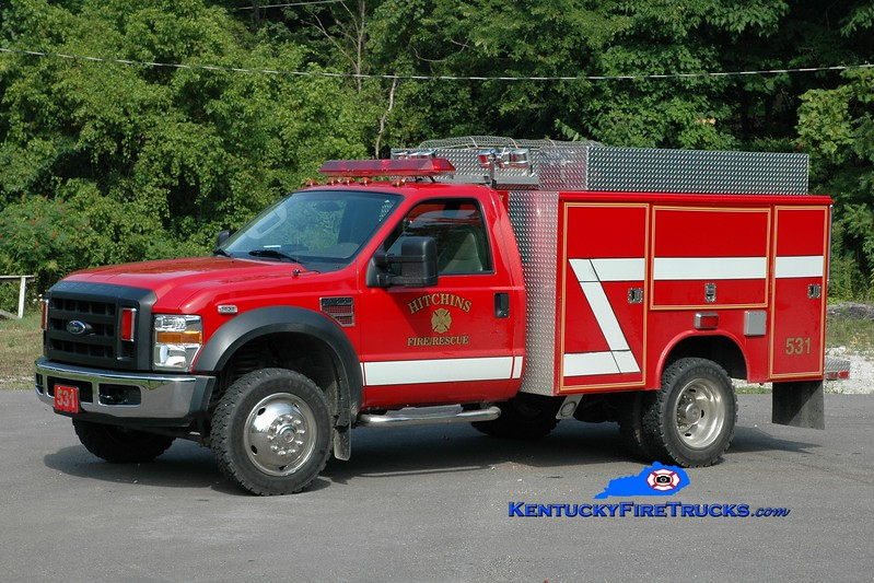 <center> RETIRED <br> Hitchins  Rescue 531 <br> 2007 Ford F-550 4x4/Fouts Bros <br> Greg Stapleton photo </center>