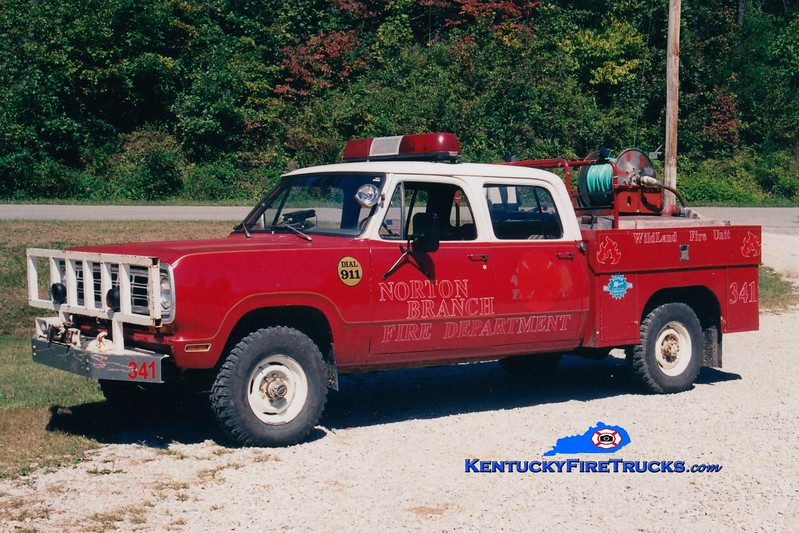<center> RETIRED <br> Norton Branch  Rescue 341  <br> 1974 Dodge 4x4/Quality 250/250 <br> Greg Stapleton photo </center>
