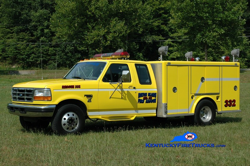 <center> Norton Branch  Rescue 332  <br> 1997 Ford F-350/Allegheny  <br> Greg Stapleton photo </center>