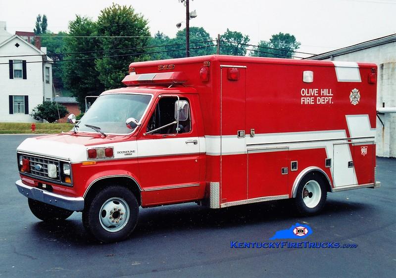 RETIRED<br /> Olive Hill Rescue <br /> 1996 Ford E-350<br /> Greg Stapleton photo