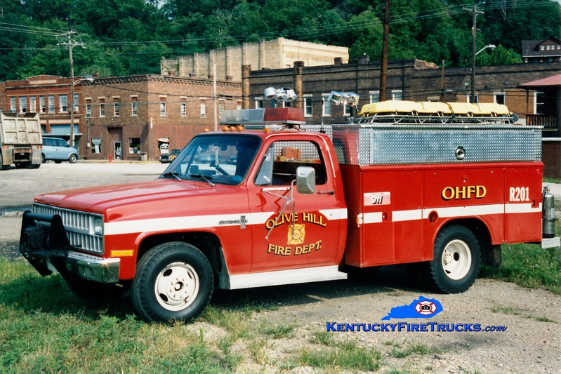 <center> RETIRED <br> Olive Hill  Squad 201 <br> 1982 Chevy/Reading <br> Greg Stapleton photo </center>