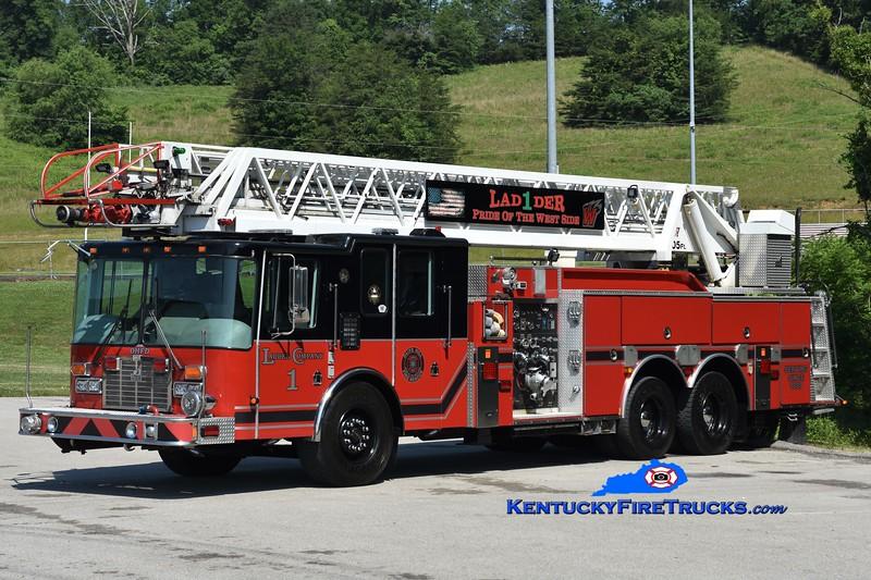 Olive Hill Ladder 1 <br /> x-Plainville, MA<br /> 1998 HME/Smeal 1250/500/105' <br /> Greg Stapleton photo