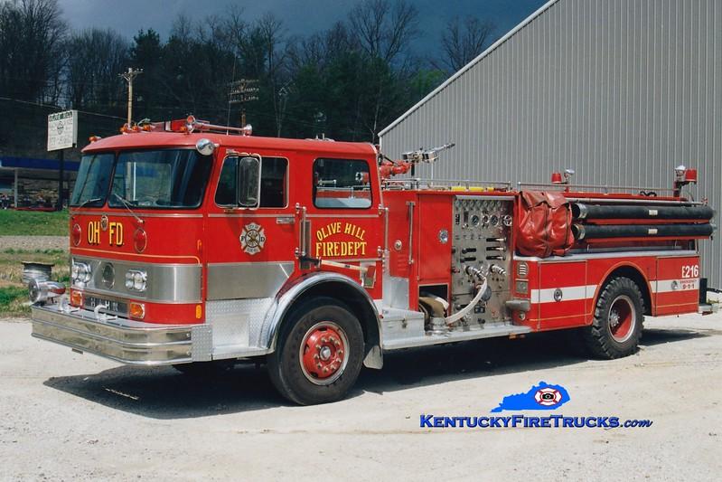 <center> RETIRED <br> Olive Hill  Engine 6 <br> x-Piscataway, NJ <br> 1976 Hahn 1250/750 <br> Greg Stapleton photo </center>