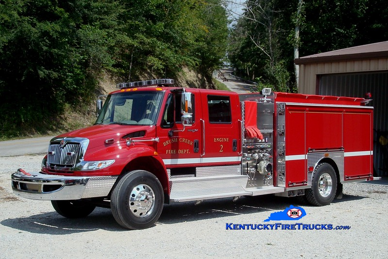 <center> Brush Creek  Engine 2 <br> 2009 International 4900/Sutphen 1250/1000 <br> Greg Stapleton photo </center>