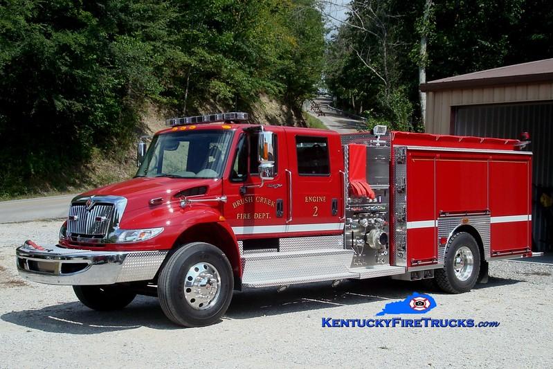 <center> Brush Creek  Engine 2 <br> 2009 International 4900/Sutphen 1250/1000 <br> Greg Stapleton photo </center>
