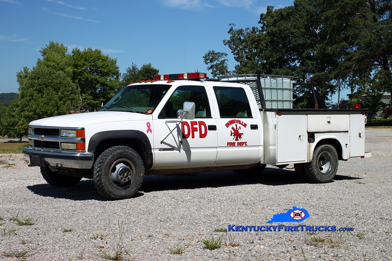 <center> Dunnville  Brush 33 <br> 2000 Chevy 3500 4x4/FD 250/250 <br> Kent Parrish photo </center>