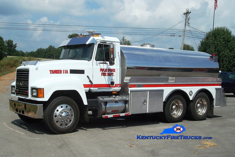 <center> Poplar Springs Tanker 11A <br> 1997 Mack CH/1992 4-Guys 250/3000  <br> Greg Stapleton photo </center>