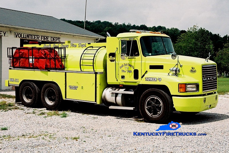 <center> REFURBISHED <br> Southeast Casey  Tanker 9 <br> 1991 Mack CH/1977 Local 250/2400 <br> Greg Stapleton photo </center>