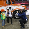 Casey being interviewed at the BC Place Monster Truck Show