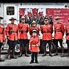 Casey Wright with RCMP members at the Musical Ride