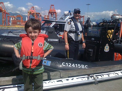 Casey with Staff Sgt Major John Buis, RCMP