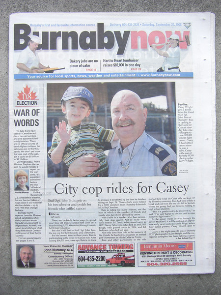 Casey Wright with Staff Sgt Major John Buis