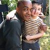 "Actor Rick Worthy on the set of ""Man in the High Castle where Casey Wright played a little boy with polio named ""Bobby"""