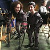 "Actress Karin Konoval and Casey Wright on set of ""War for the Planet of the Apes"""