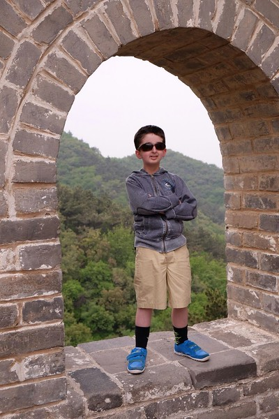Casey Wright on the great Wall in China