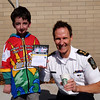 Casey Wright meets the Delta police Chief Neil Dubord at a Cops for Cancer event