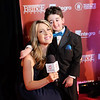 Casey Wright with Vancouver TV host on the red carpet