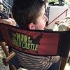 "Casey Wright on the set of Man in the High Castle where he played a reoccurring role as a little boy with polio named ""Bobby"""