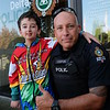 Casey Wright with Constable Ken Usipiuk with the Delta Police Department