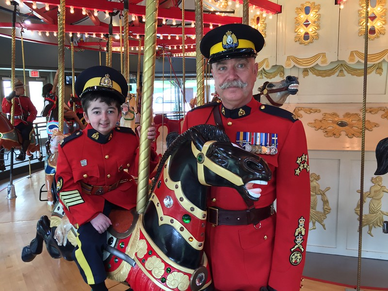 Honorary Staff Sergeant Major Casey Wright with Staff Sergeant Major John Buis at the Burnaby Village Museum