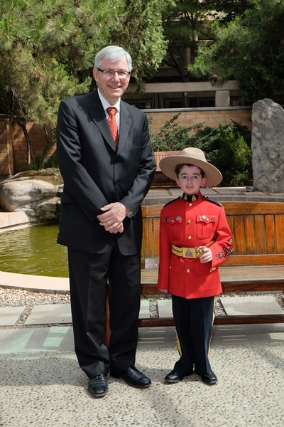 Canadian Ambassador to China, Guy Saint-Jacques and Hon. Staff Sgt. Major Casey Wright