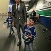 Canucks President of Operations Trevor Linden with Casey Wright