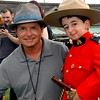 Michael J. Fox with Honorary RCMP member Casey Wright