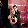 Vancouver TV host with Casey Wright on the red carpet