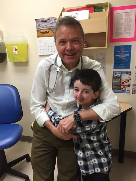 Dr. Daniel Metzger with Casey Wright at BC Children's Hospital