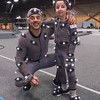 Actor, stuntman Lauro Chartrand with Casey Wright on the set of War for the Planet of the Apes