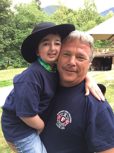 NWFD foundation Danny Wilson with Casey Wright