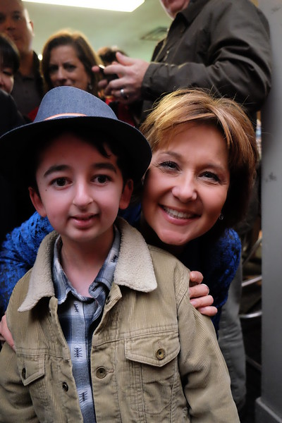 BC Premier Christy Clark with Casey Wright