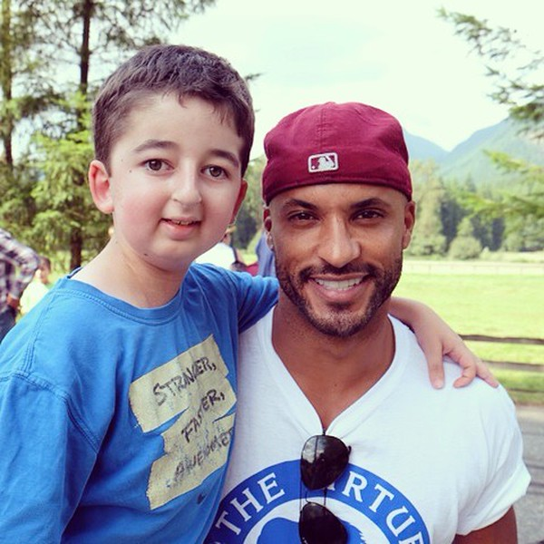 Actor Ricky Whittle with Casey Wright