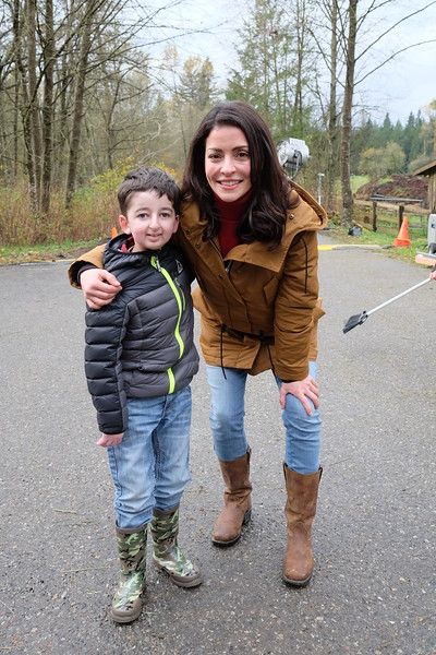 Actress Emmanuelle Vaugier with Casey Wright at the Virtue Ranch