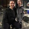 "Director Matt Reeves and Casey Wright on set of ""War for the Planet of the Apes"""