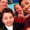 BC Global TV hosts Sophie Lui and Steve Darling with Casey Wright and his dad Larry