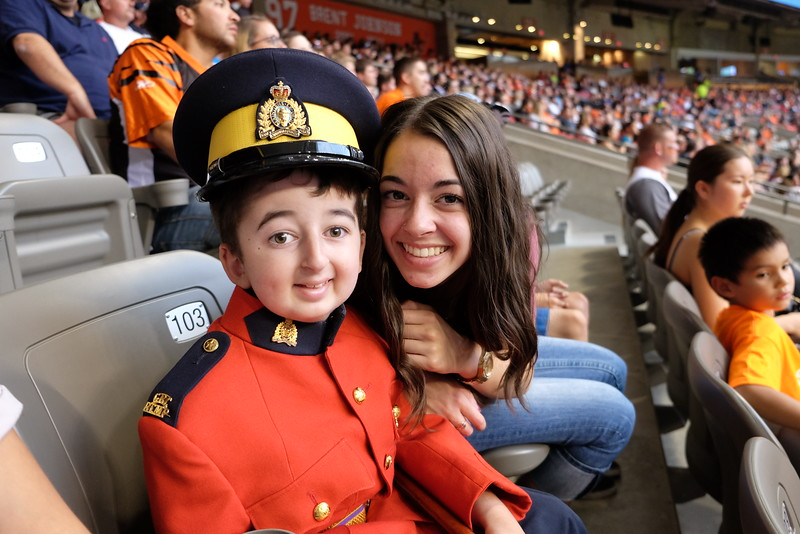 RCMP Casey with his sister Jemma