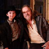"Casey Wright with actor Trace Atkins on the movie set "" Stagecoach"""