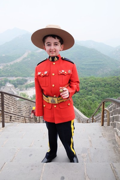 Honorary Staff Sergeant Major Casey Wright on the Great Wall of China