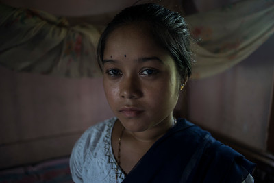 Dhemanji, Assam, India August,2014:   Hahami Das (18) was married when she was 14 years old and have had many mis-carriages.   Series on early marriages in Assam, India for Al Jazeera America.       Photo:  Sami Siva