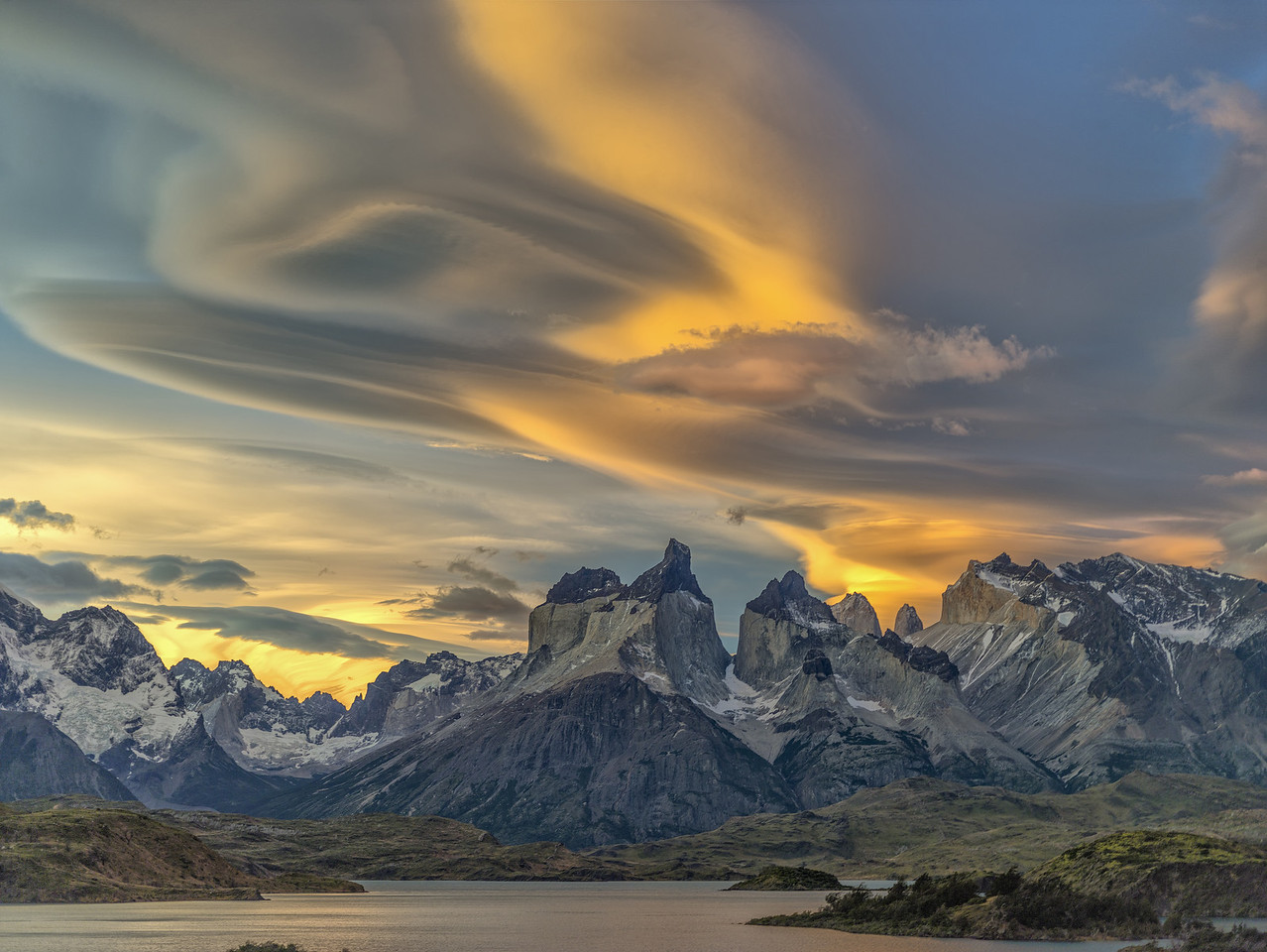 Sunset - Torres del Paine, Patagonia, Chile