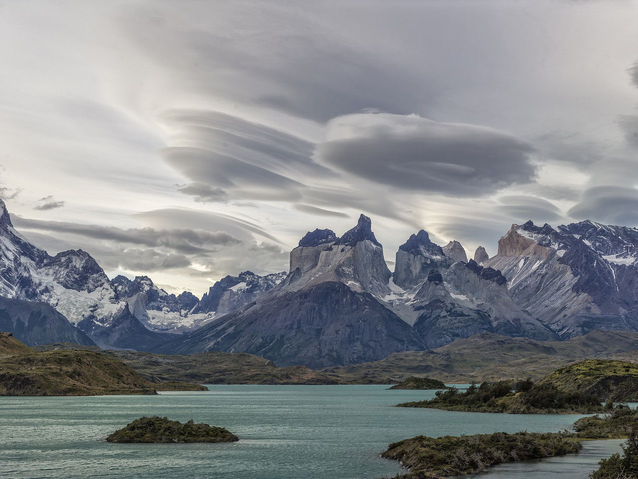Clouds and Torres del Paine, Patagonia, Chile