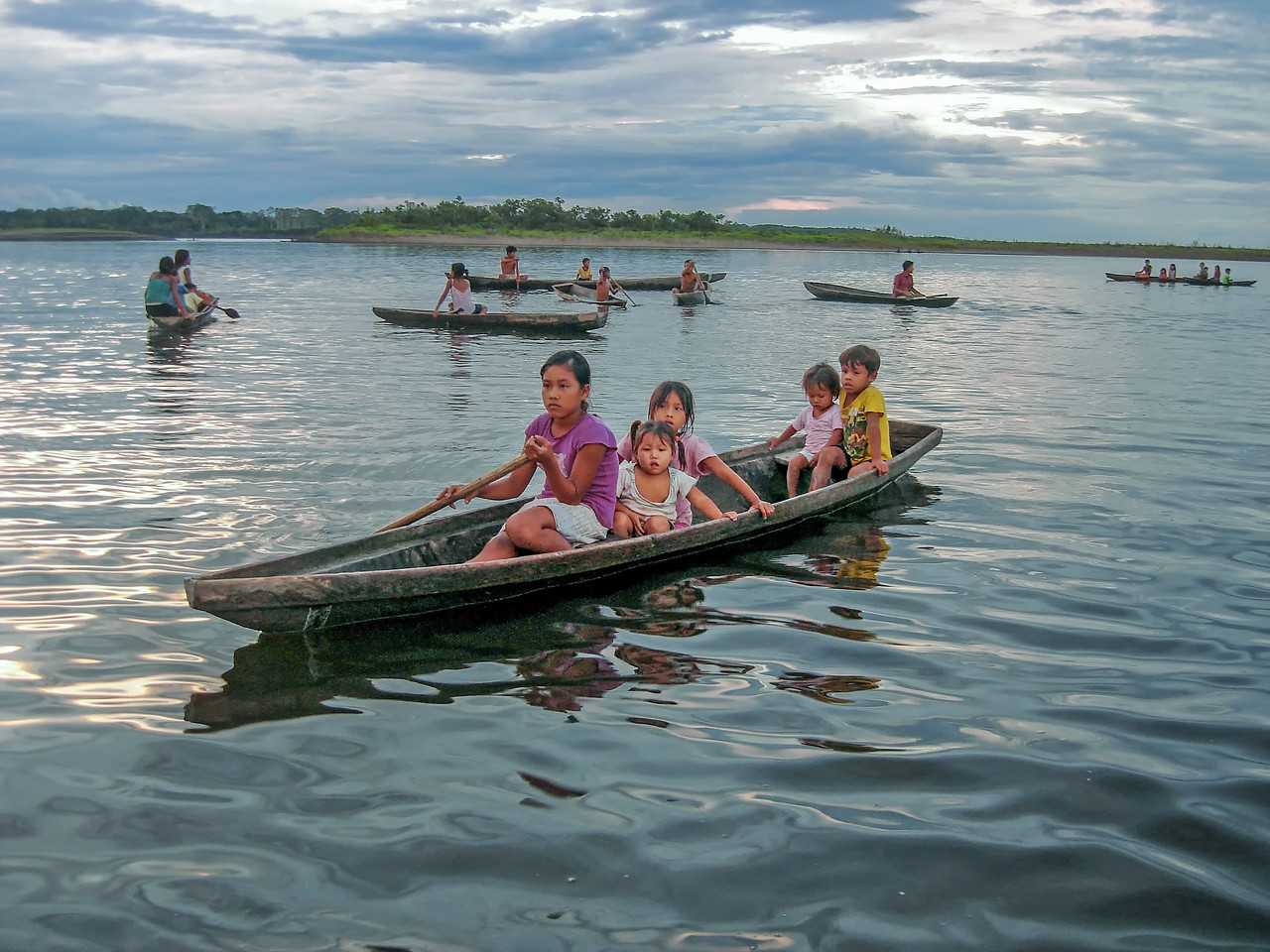 Children on the Amazon