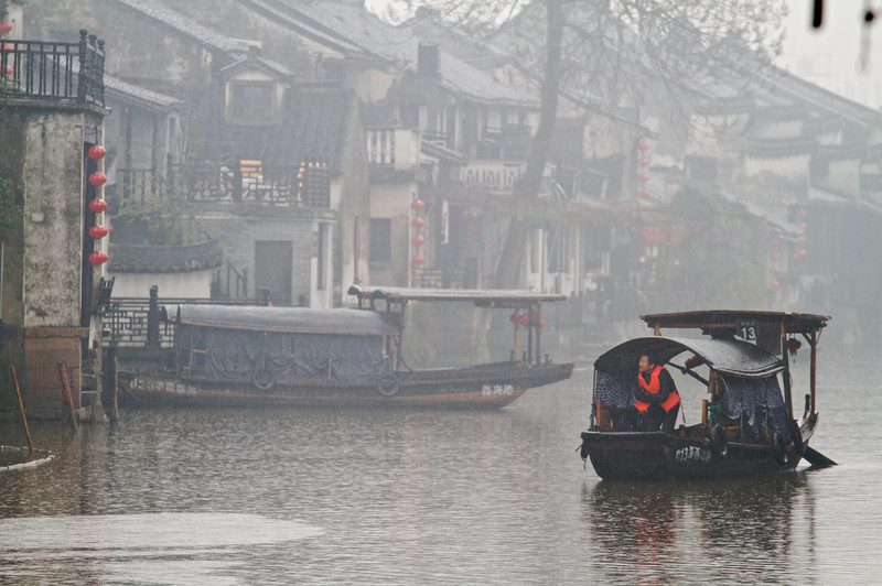 "Xitang, referred to by locals as ""the Venice of China"", has canals that act as main thoroughfares in much of the town."