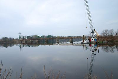 The finished bridge.