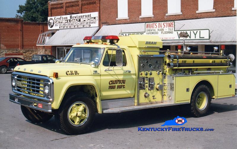 <center> RETIRED <br> Crofton  Engine 350  <br> 1978 Ford F-800/Bean 750/750 <br> Greg Stapleton photo </center>