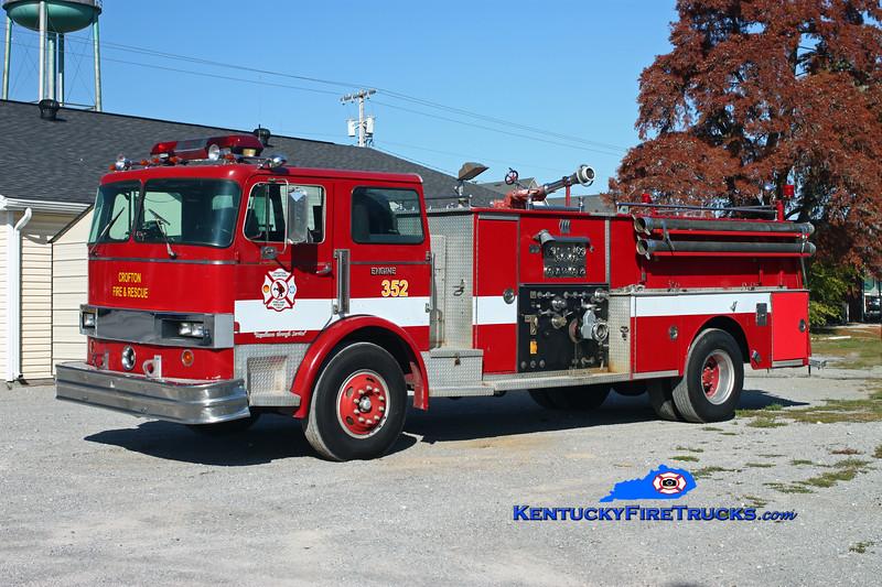 <center> RETIRED <br> Crofton  Engine 352  <br> x-Birmingham, AL  <br> 1981 Hendrickson 1871-C/Jaco 1000/750 <br> Kent Parrish photo </center>