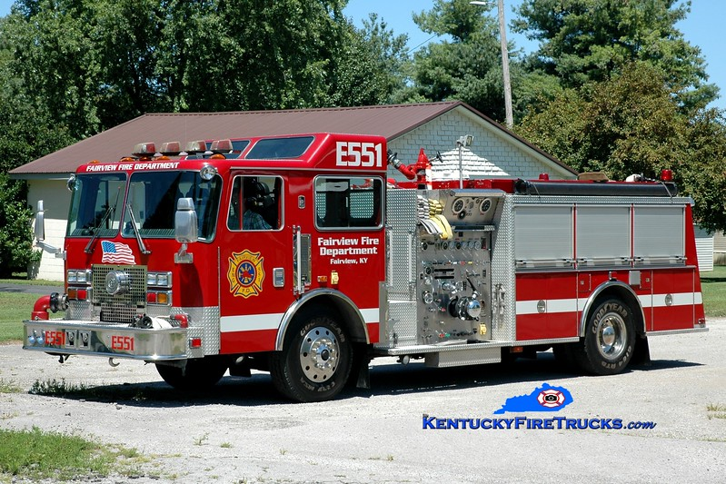 <center> Fairview  Engine 551 <br> x-North Olmstead, OH <br> 1994 KME Renegade 1500/750/40  <br> Greg Stapleton photo </center>