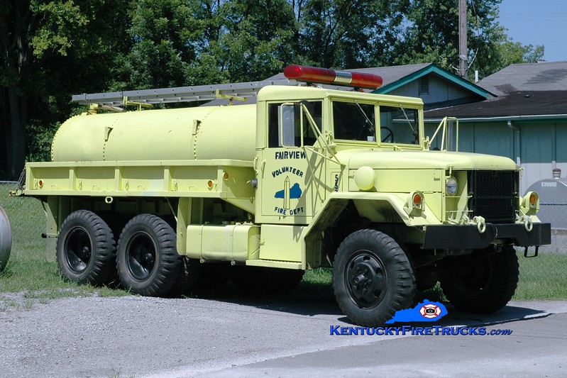 <center> RETIRED <br> Fairview  Tanker 552 <br> x-Military <br> 1971 AM General M35/FD 250/1000  <br> Greg Stapleton photo </center>