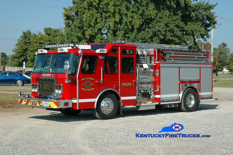 <center> Fort Campbell  Engine 50  <br> x-Engine 1 <br> 1997/2010 E-One Cyclone II 1250/750 <br> Greg Stapleton photo </center>